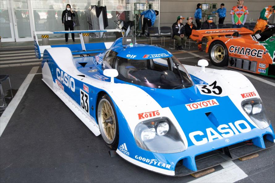 トヨタ初となるル・マン24時間レースの2位入賞を果たしたCASIO TS010(33号車)