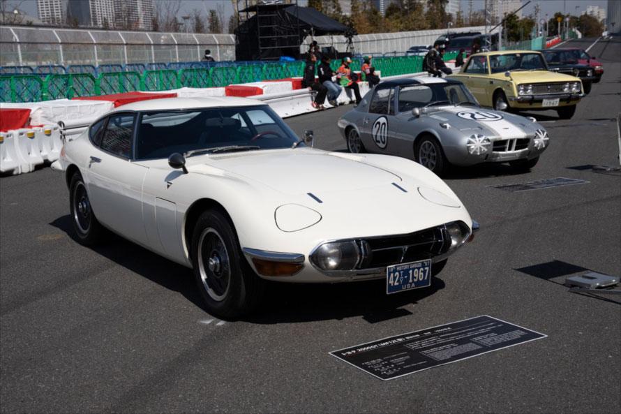 トヨタ2000GTをはじめとするトヨタスポーツモデルも集合