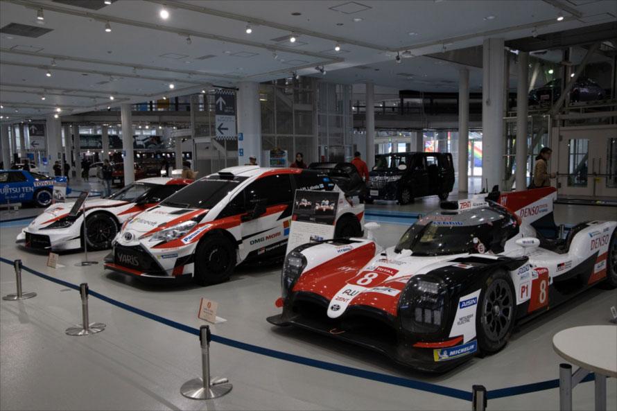 WRCやWECで活躍したマシンも展示されていた