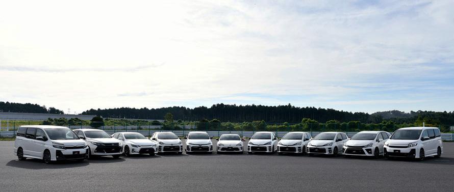 コンパクトハッチバックやミニバン、セダン、スポーツカーなど、GRシリーズには幅広い車種がラインアップされる。