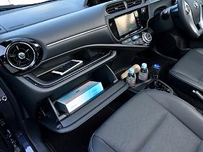 トヨタ アクア 小物収納スペース 徹底検証