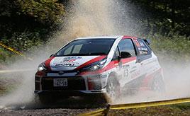 【全日本ラリー】国内で最も過酷でタフな高速ラリー TGR Vitz GRMN Rallyはコースアウトでリタイア