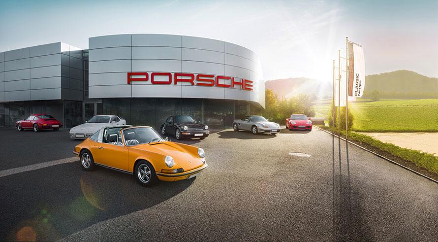 ポルシェのクラシックカー事業を統括するポルシェクラシックセンター。ポルシェは同拠点をハブに、世界中にメンテナンスサービスのネットワークを構築し、クラシックポルシェのオーナーをサポートしている。