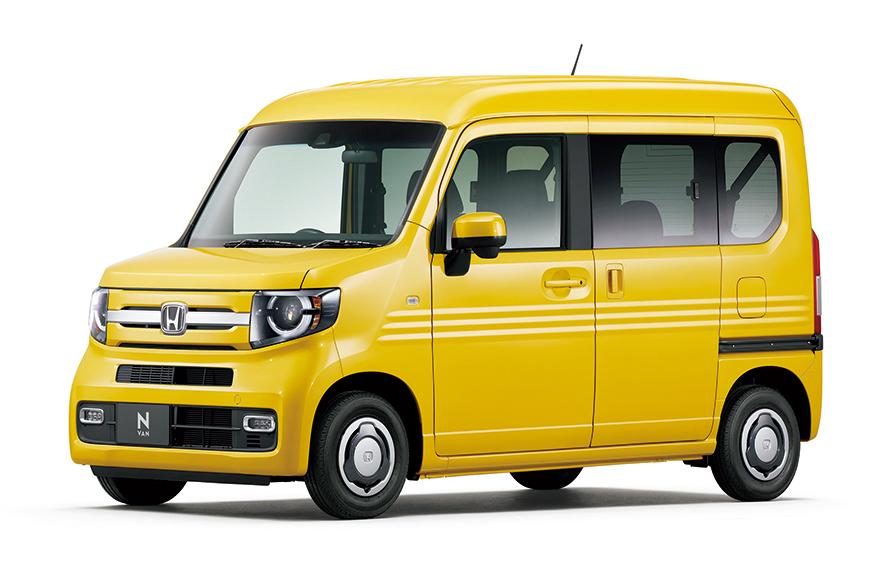 ホンダの軽バン「+STYLE FUN・ターボ Honda SENSING」。本体価格166万円からと安い。