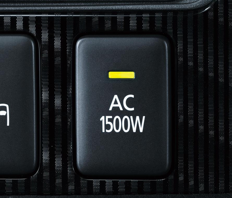 正弦波の100V/1500W出力を備えている