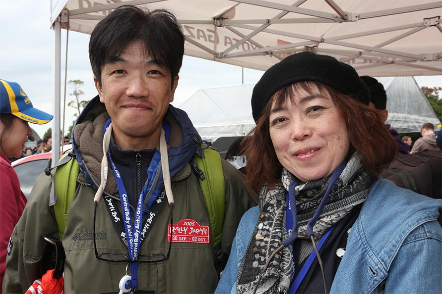 2005年に北海道で開催されたWRCラリージャパンの観戦経験がある、埼玉県の丹崎健雄・万記子ご夫妻。
