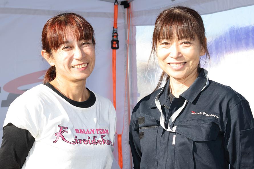 チーム代表の石垣さん(左)と稲木さん(右)