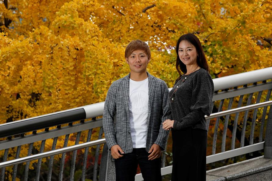 インタビュアーの稲野一美さんは勝田選手のカート時代を見守ってきたお姉さん的存在。