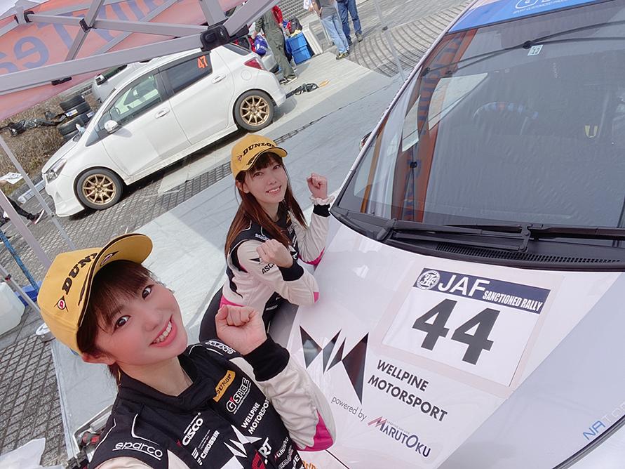 ドライバーの板倉麻美選手と一緒にパシャリ。今回の反省を踏まえて次のレースも頑張ります!