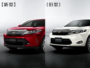 新型ハリアー 新旧比較 (ガソリン車/ハイブリッド車)  (2017年6月)
