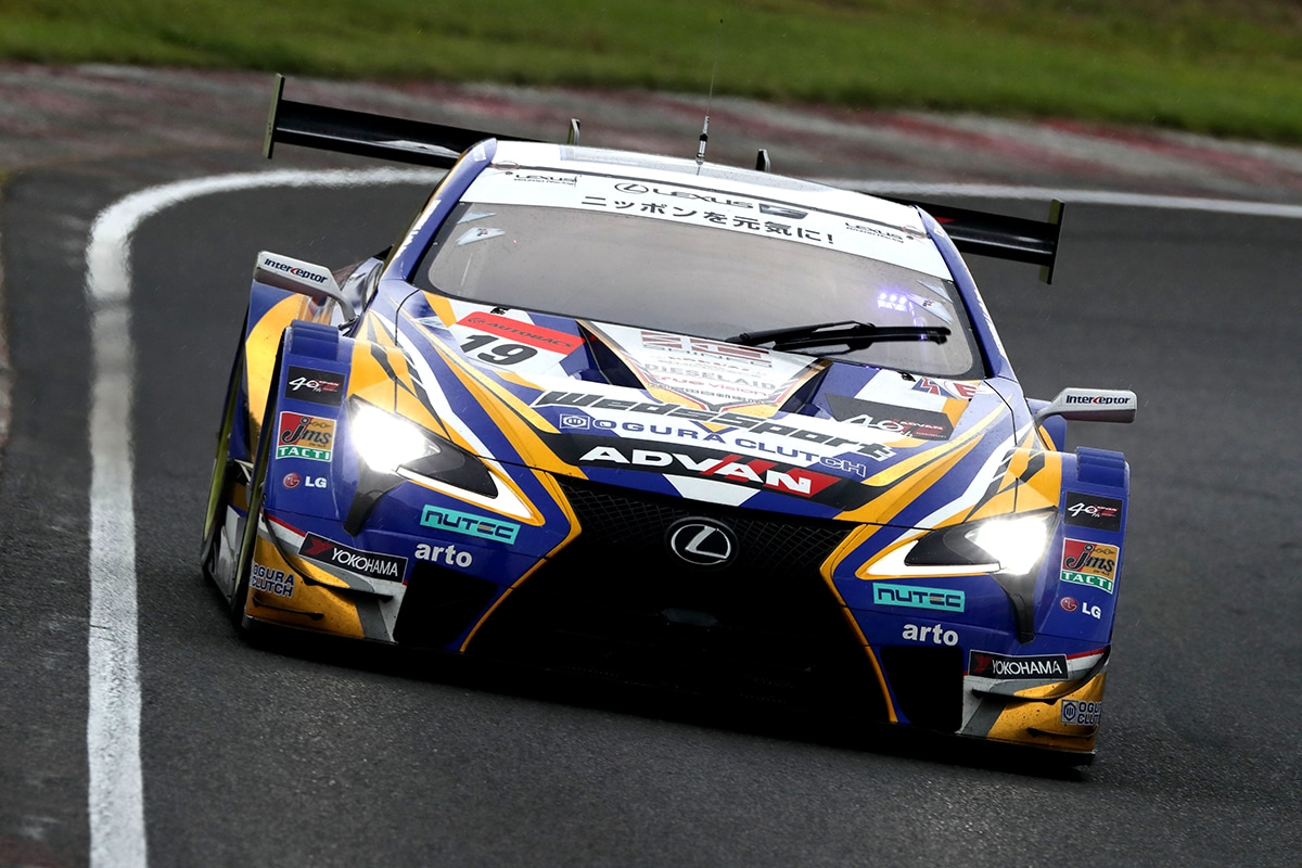 LEXUS勢で予選最上位を獲得したWedsSport ADVAN LC500 19号車(国本 雄資/山下 健太)