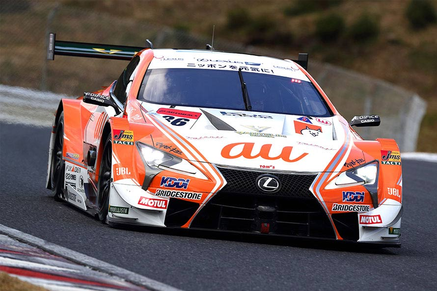 LEXUS勢で予選最上位を獲得したau TOM'S LC500 36号車(中嶋 一貴/関口 雄飛)