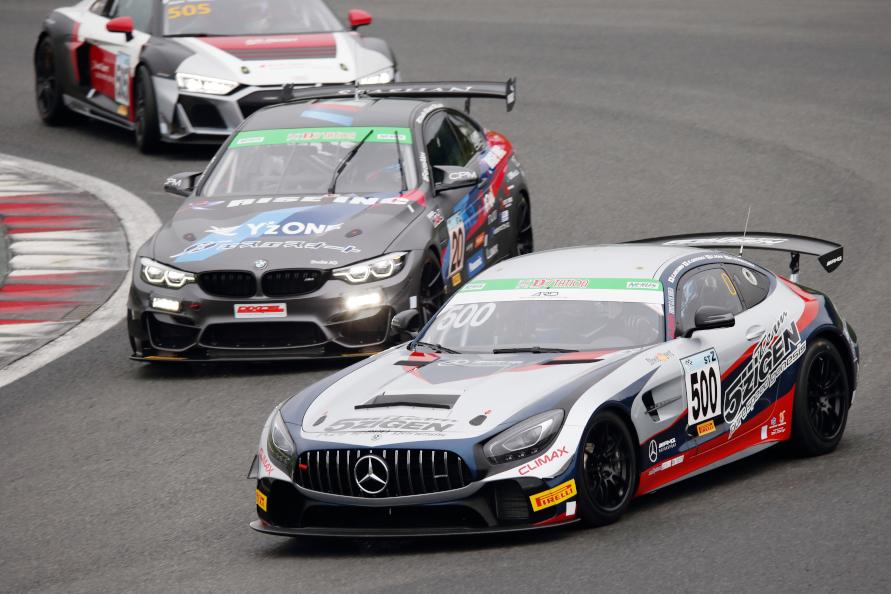 ST-Zクラスに参戦するメルセデスベンツ、BMW、アウディのGT4マシン(写真提供:スーパー耐久機構(STO))