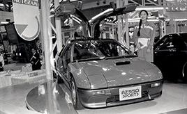 【東京モーターショーにコンセプトカーとして発表されたあのクルマたち】軽スポーツの真骨頂。太いサイドシルとガルウイングドアはまさにスーパーカーだ