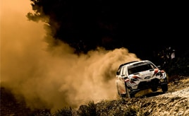 【トヨタ WRC】第8戦2日目、タナックが総合3位に、ミークが総合6位につける