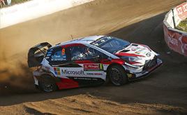 【トヨタ WRC】第6戦初日、前戦優勝のタナックが首位に立つ
