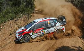 【トヨタ WRC】第6戦2日目、ラッピが総合5位でデイ2を走破