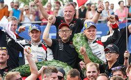 【トヨタ WRC】第8戦最終日、タナックが今シーズン2勝目を飾る
