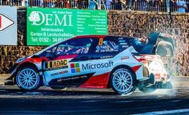 【トヨタ WRC】第9戦初日、タナックがベストタイムを記録し首位に立つ