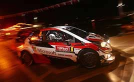 【トヨタ WRC】第10戦初日、ヤリスWRCは全車が市街地でのSS1を走破