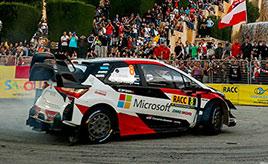 【トヨタ WRC】第12戦初日、SS1でタナックが3番手タイムを記録