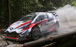 【トヨタ WRC】第13戦2日日、ドライバーズタイトルを狙うタナックが首位に立つ