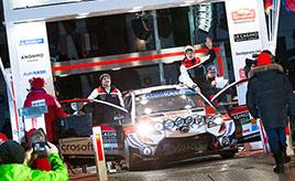 【トヨタ WRC】第1戦初日、タナックが首位に立ち初日をリード