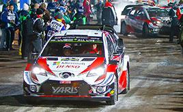 【トヨタ WRC】第2戦初日、ヤリスWRCは全車がトップ10内に