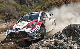 【トヨタ WRC】第3戦2日目、ミークが総合3位、タナックは総合4位に