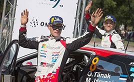 【トヨタ WRC】第3戦最終日、タナックが総合2位でドライバー選手権首位を堅持