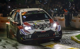 【トヨタ WRC】第5戦初日、タナックがベストタイムで首位に立つ