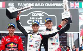 【トヨタ WRC】第6戦最終日、タナックが第2戦以来となる今シーズン2勝目を獲得