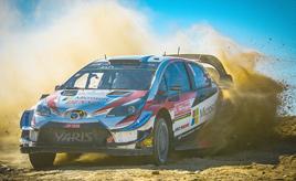 【トヨタ WRC】第7戦初日、首位タナック、2位ラトバラ、3位ミークとヤリスWRCがトップ3を占める
