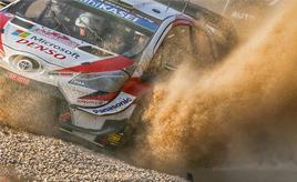 【トヨタ WRC】第8戦初日、タナックが総合3位に、ミークが総合4位につける