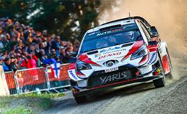 【トヨタ WRC】第9戦初日、タナックが総合2位に、ミークが総合3位につける