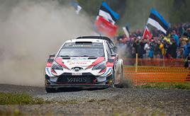 【トヨタ WRC】第9戦3日目、タナックが首位に立つ。ラトバラは総合3位につけ表彰台を狙う