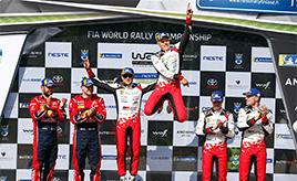 【トヨタ WRC】第9戦最終日、タナックが2年連続優勝でシーズン4勝目を記録。ラトバラは今季最高位の総合3位で表彰台に立つ