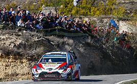 【トヨタ WRC】第13戦2日目、タナックが4本のベストタイムを記録、総合3位に順位を上げドライバーズタイトル獲得に近づく