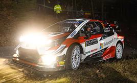 【トヨタ WRC】第1戦初日、SS1でベストタイムを記録したオジエが総合2位に エバンスは総合4位、ロバンペラは総合7位につける