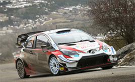 【トヨタ WRC】第1戦2日目、オジエが首位に立ち、エバンスは総合2位に浮上 ヤリスWRCは合計5本のベストタイムを刻む