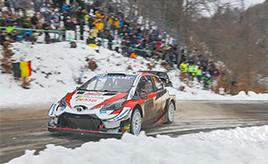 【トヨタ WRC】第1戦3日目、チーム内バトルを制しエバンスが首位に浮上、オジエは4.9秒差の総合2位で最終日に挑む