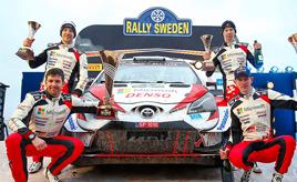 【トヨタ WRC】第2戦最終日、 エバンスがスウェーデン初優勝で選手権首位に浮上 ロバンペラは総合3位、オジエは総合4位でフィニッシュ