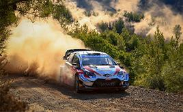 【トヨタ WRC】第5戦初日、ベストタイムを記録したオジエが首位と1.3秒差の総合3位につける