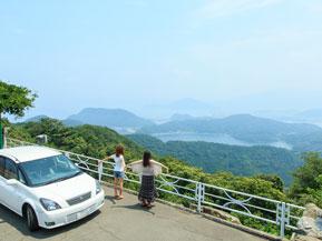 三方五湖レインボーラインを爽快にドライブ 福井県美浜町