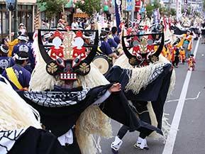 遠野の郷土芸能を披露する、日本のふるさと遠野まつりへドライブ  岩手県遠野市