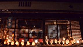 雪灯籠が照らす風情ある町並みを歩く!智頭宿雪まつりへドライブ 鳥取県智頭町