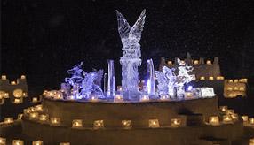 温かな光にうっとり!しもかわアイスキャンドルミュージアムへドライブ 北海道下川町