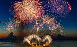 今年もアツい!海洋博公園の花火大会へドライブ 沖縄県本部町