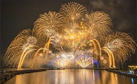 たまや~!琵琶湖に打ち上がる花火を見にドライブ 滋賀県長浜市