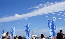 青空に舞うブルーインパルスに感動!華麗なアクロバット飛行を観に行こう 宮城県東松島市